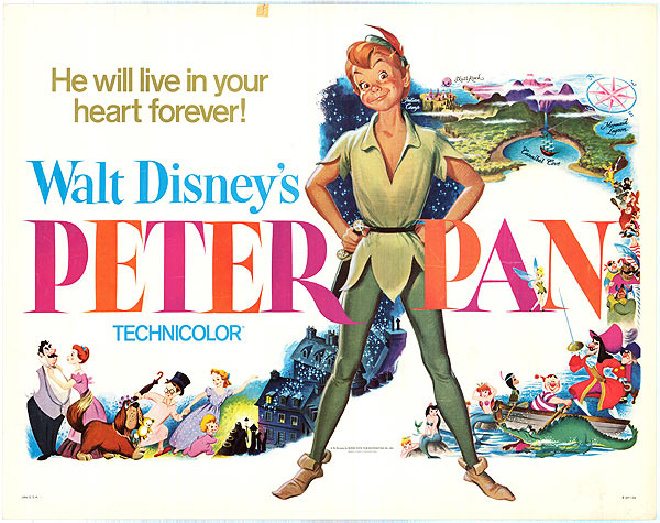 Original artwork for the 1953 release of Walt Disneys Peter Pan